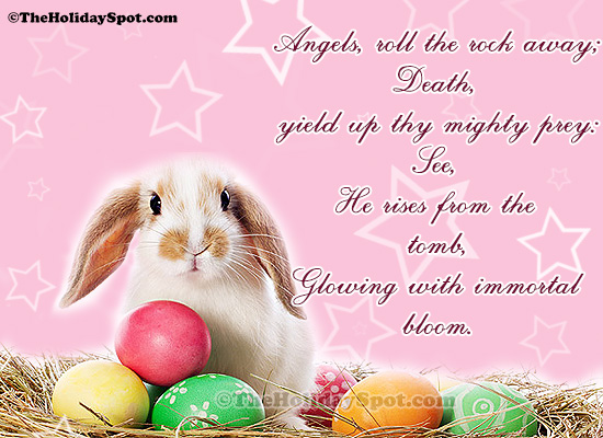Easter greeting cards free easter greetings quotes and poems cards easter quatation angels roll the rock away m4hsunfo