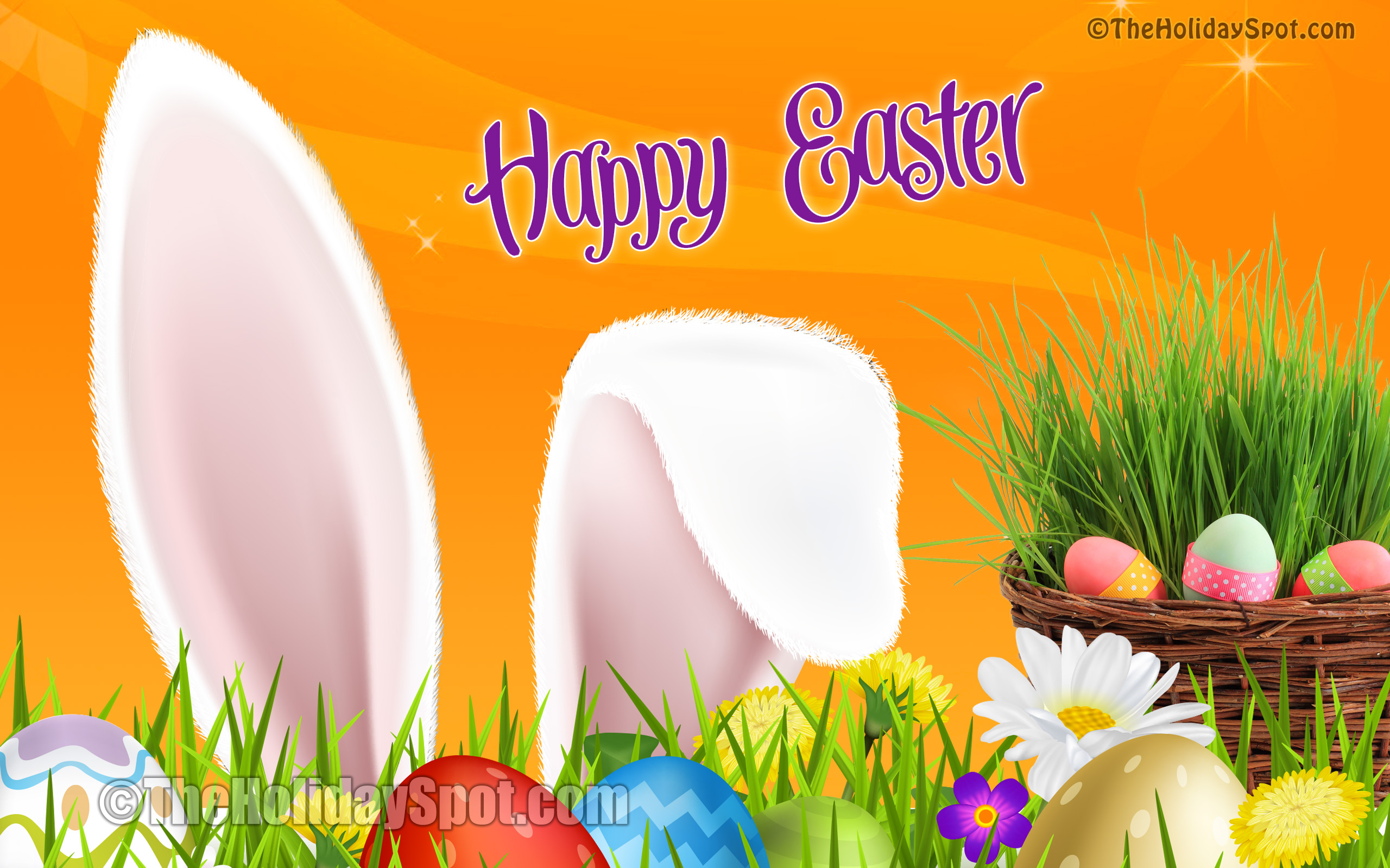 HD Colorful Wallpaper With Easter Wishes