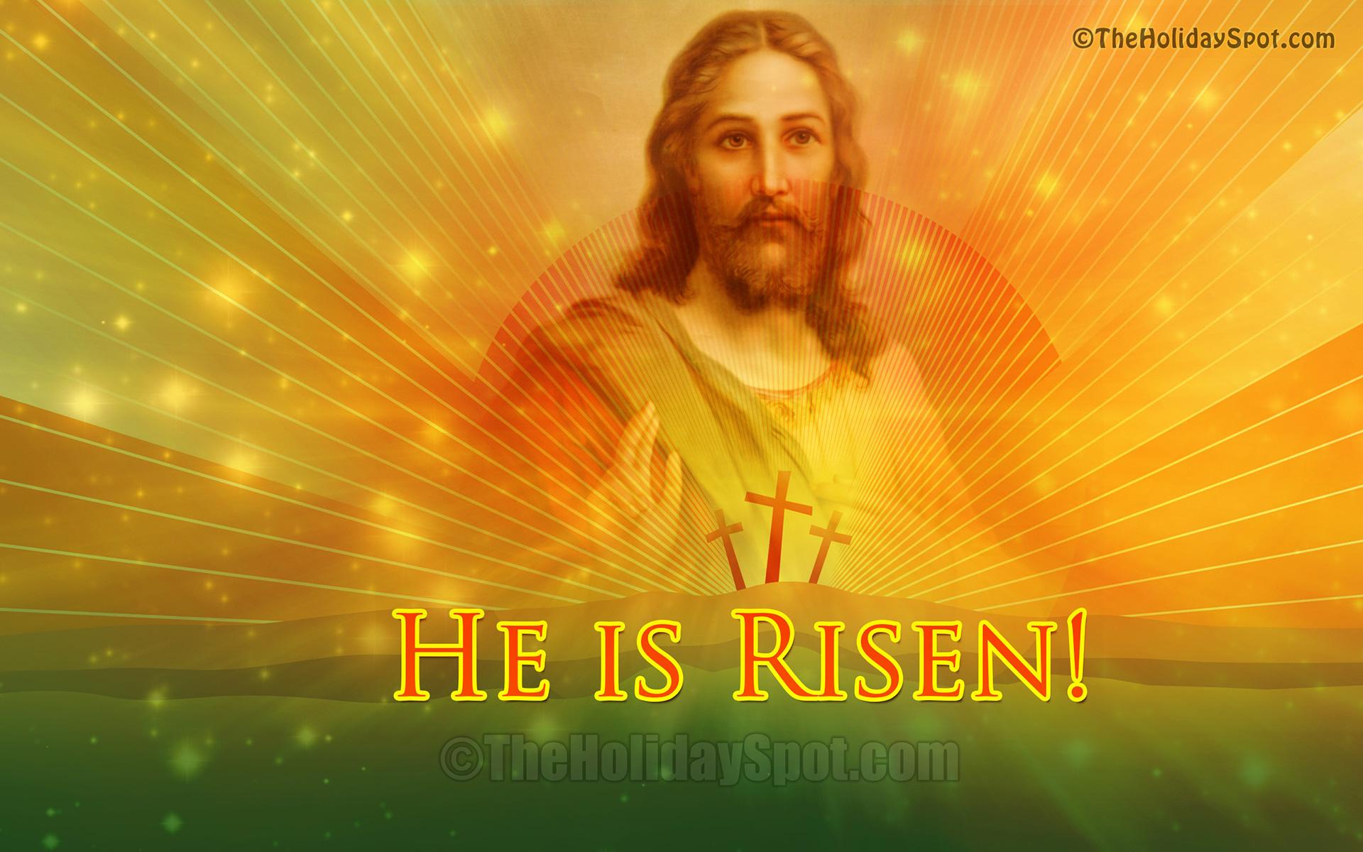 He is Risen - Easter Wallpaper of Jesus