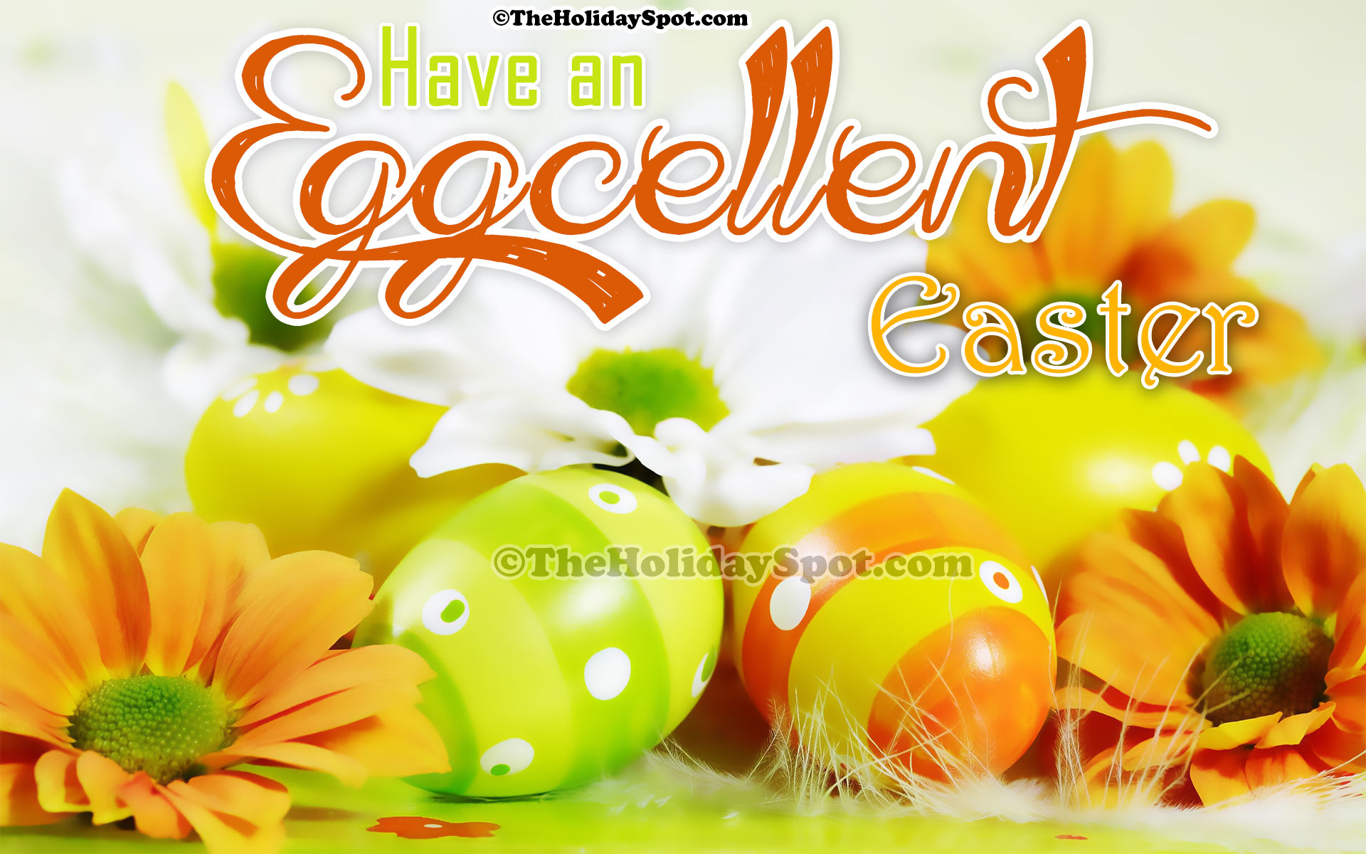 Wallpaper Of Eggcellent Easter Wishes