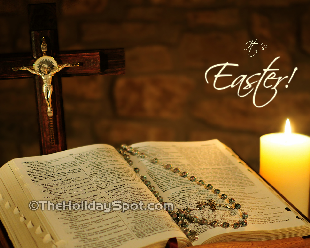 High Definition Easter Wallpapers Featuring Bible And Holy Cross