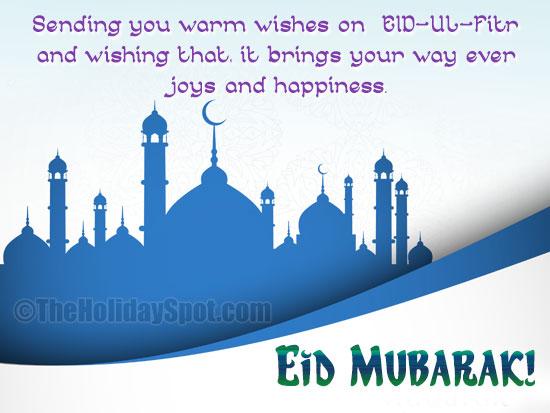 Eid mubarak greetings sending you warm wishes on eid ul fitr m4hsunfo