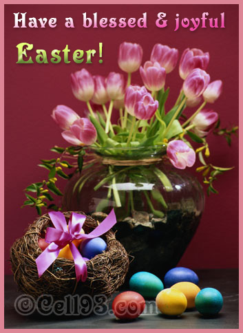 Blessed and Joyful Easter wishes card