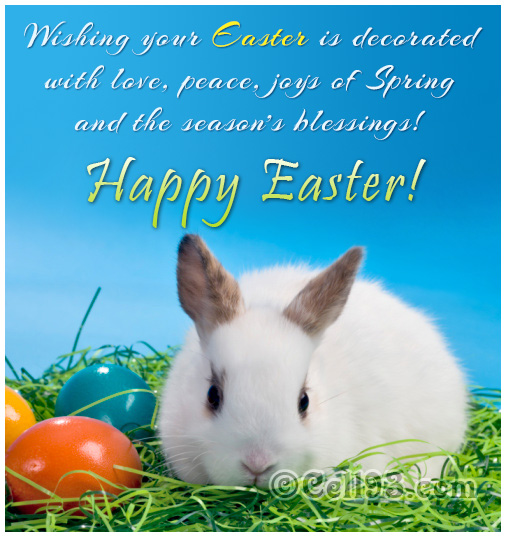 Easter card with seasons's blessings