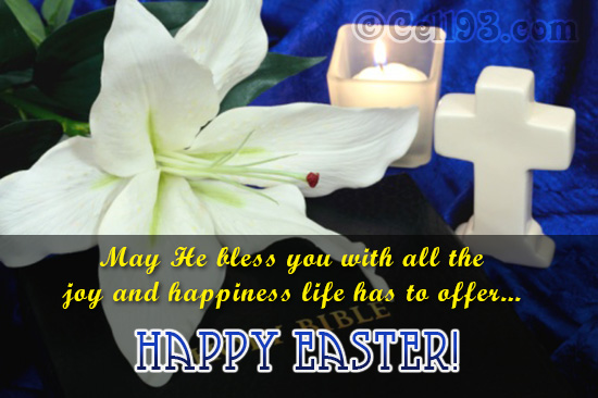Easter greetings of joy and happiness