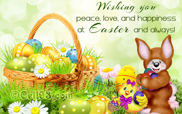 Easter greeting cards free easter greetings quotes and poems cards easter wishes with love peace and happiness m4hsunfo