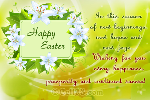 Seasonal Easter greeting card