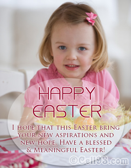 Happy Easter card with new aspirations and new hope
