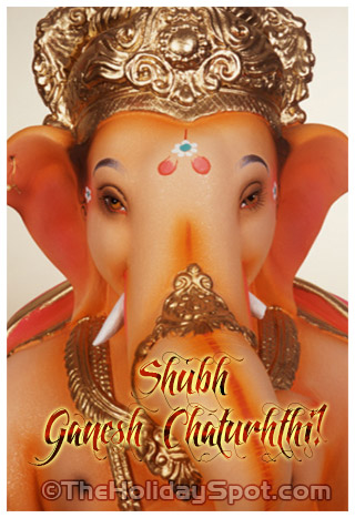 eCard with Shubh Ganesh Chaturthi wishes