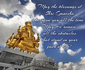 Greeting card with Blessings of Shri Ganesha