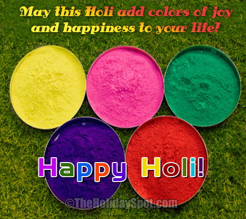 Holi image with various color