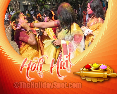 Card of Holi celebration for WhatsApp