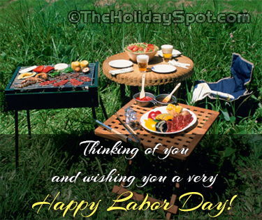 Thinkiing of you on Labor Day card
