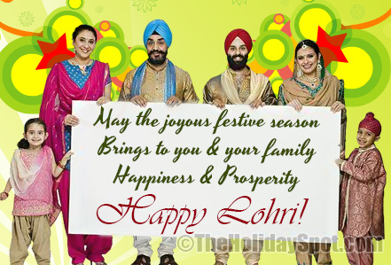 Lohri wishes for happiness and prosperity