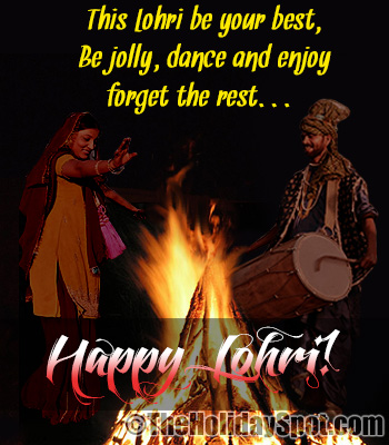 Best wishes card of Lohri