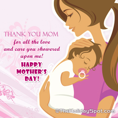 Thank you card for mom on Mother's Day