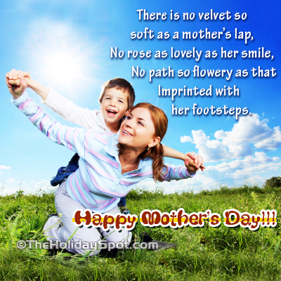 Mother's Day greeting card for on her smile