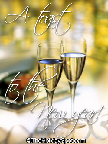 Greeting card - a toast to the New Year