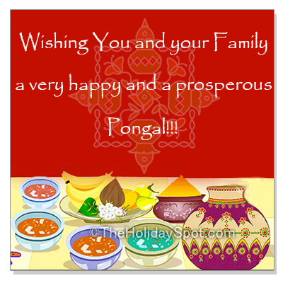 Pongal wishes for happiness and prosperity
