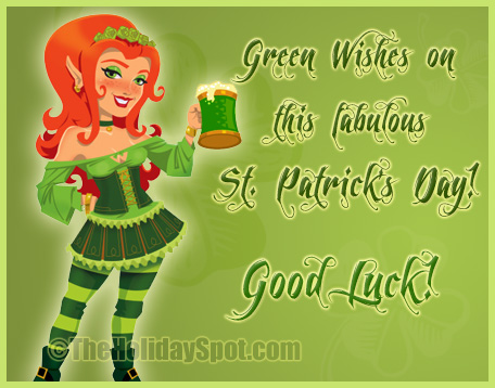Green wishes on Saint Patrick's day