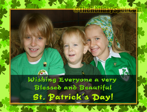 Wishes for a blessed and beautiful St. Patrick's Day