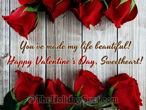 Valentine's Day greetings for sweetheart