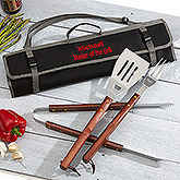 Grill Master Personalized 3pc BBQ Tool Set and Carry Tote