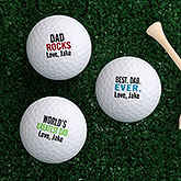 Best. Dad. Ever. Personalized Golf Ball Set