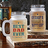 Write Your Own For Him Personalized Frosted Mason Jar