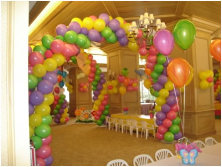 Fathers day decoration ideas for Balloon and streamer decoration ideas