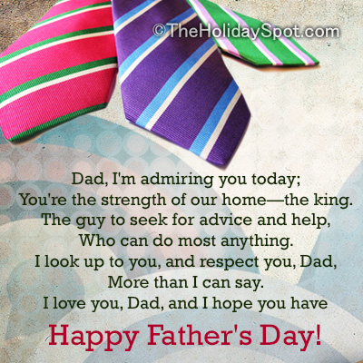 happy fathers day wish card