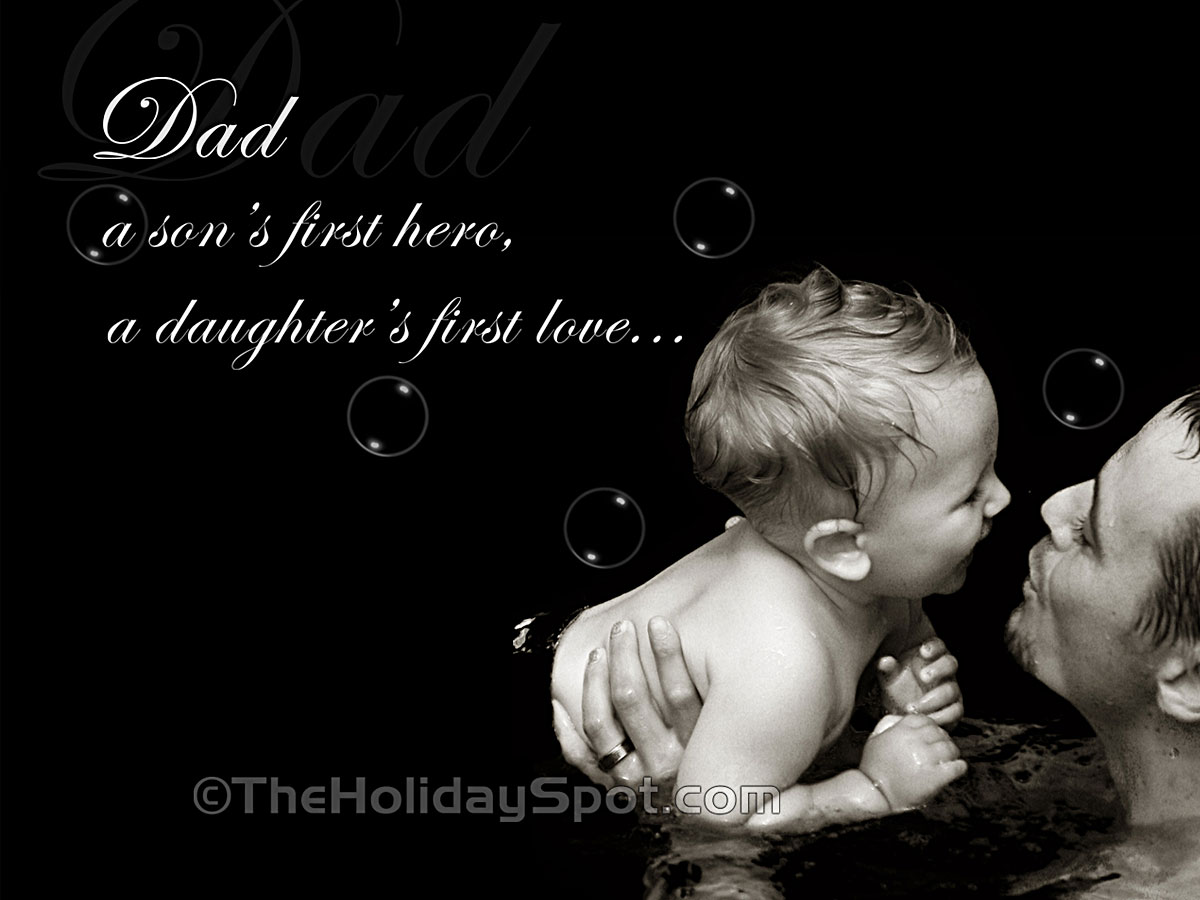 A fathers day wallpaper with a beautiful message