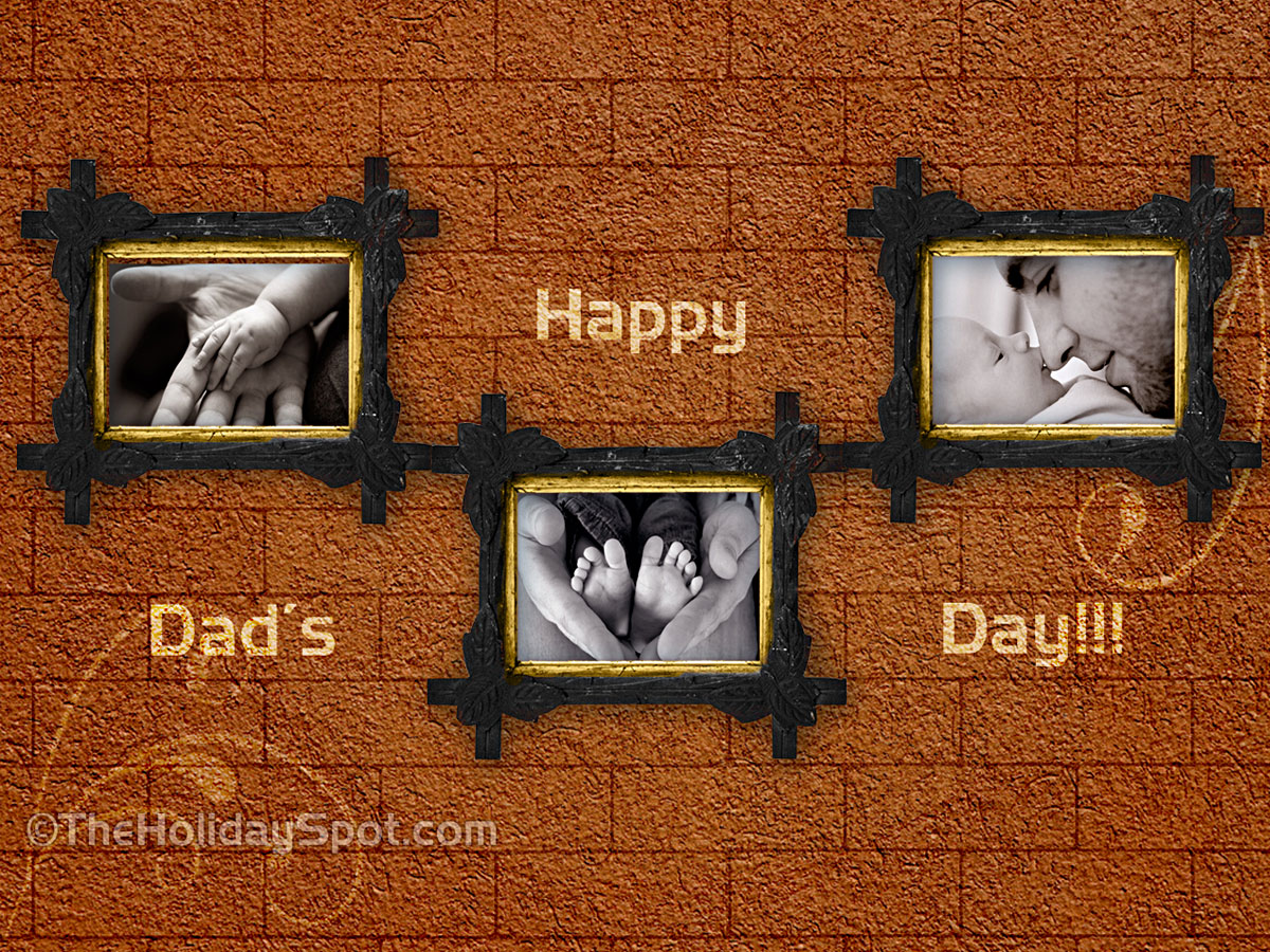 fathers day desktop image showing paternal love