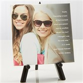Photo Sentiments For Friends Tabletop Canvas Print