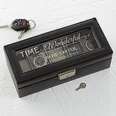 Timeless Message Leather 5 Slot Watch Box