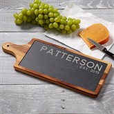 Rustic Family Personalized Slate & Wood Paddle
