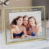 Friends Forever Gold Prisma Engraved Photo Frame