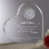 The Beauty of Friendship Personalized Heart Clock