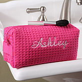 Ladies Embroidered Pink Make-up Bag