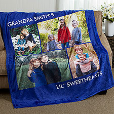 Picture Perfect Personalized Fleece Photo Blanket