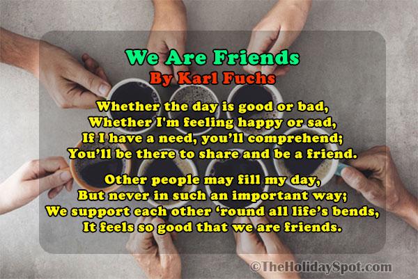famous friendship poems short poem about friendship friendship