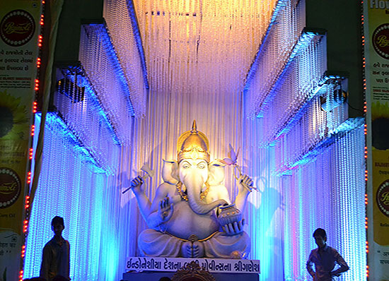 Ganesh background decoration images for Background decoration for ganesh festival