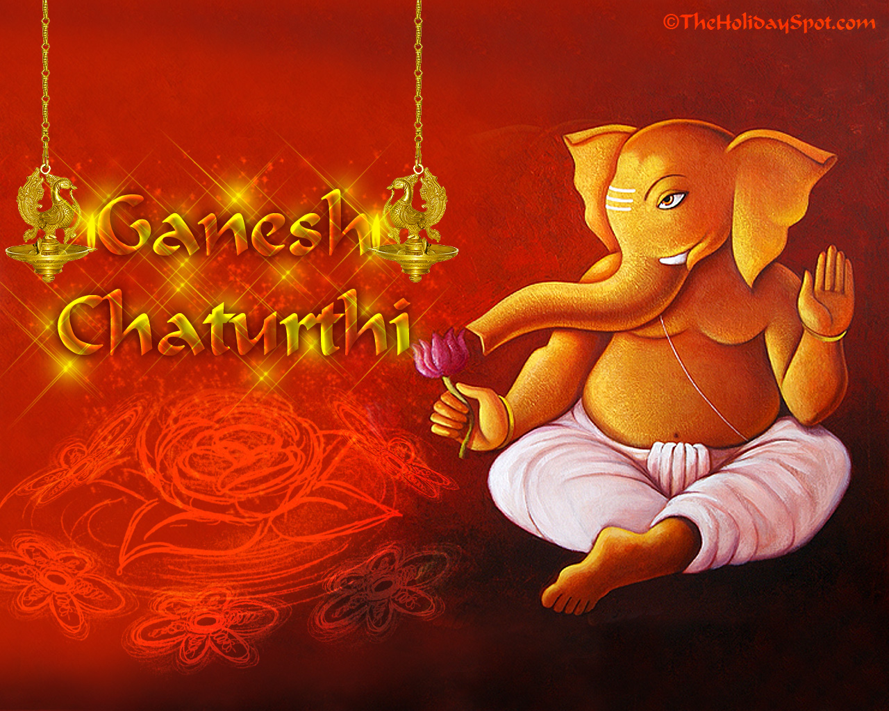 Hd wallpaper ganesh - Lord Ganesh Gives Blessing