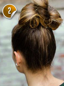 Peachy Look Cute With A Bun And Bow Hairstyle Hairstyles For Men Maxibearus