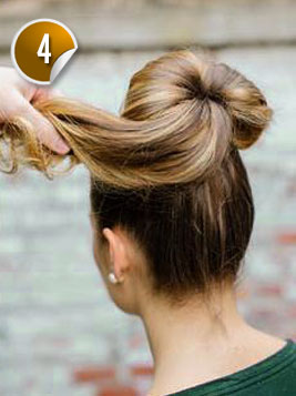 Wondrous Look Cute With A Bun And Bow Hairstyle Hairstyles For Men Maxibearus