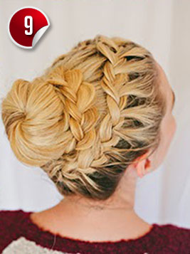 Pleasant Double Braided Complex Bun Hairstyle For Special Occasions Short Hairstyles For Black Women Fulllsitofus