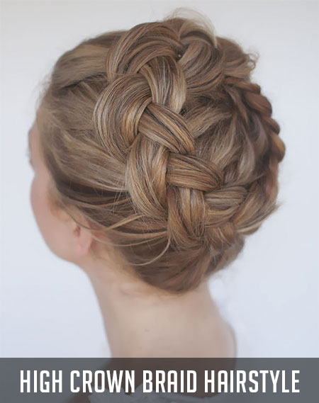 curly fade hairstyle : The Royal Crown Braided Hairstyle Fashion