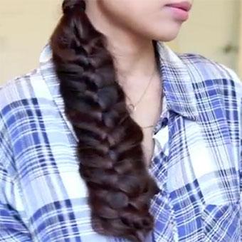 Woven Fishtail Braid Hairstyle