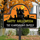 Haunted House Personalized Yard Stake