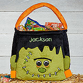 Freaky Frankie Embroidered Plush Treat Bag
